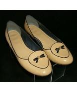 Tory Burch Dakota nude patent maison leather bow slip on loafer flats 10M - $108.10
