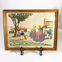 """Vintage framed needlework  13"""" x 10""""  - £32.37 GBP"""