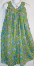 Mumu Dress Green Aqua Print Sundress Free Size Fits 1X 2X Free Shipping ... - €19,14 EUR