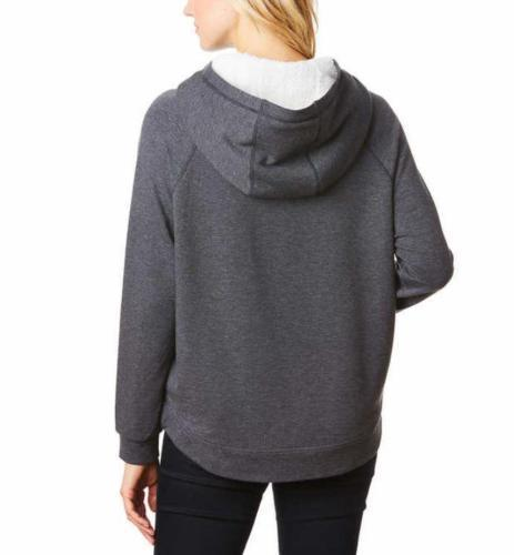 Primary image for 32 Degrees Heat Women's Pullover Sherpa Hoodie  Gray Size-L