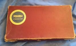 Scrabble Game Pieces 1953 Selchow & Richter Co Vintage Tiles Holders Board  - $40.00