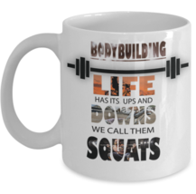 Fitness Mug \ Life has it's ups and downs... \ Gift for Bodybuilder 11 o... - $13.95+