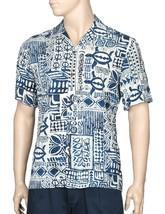 Hilo Hattie™ Honu Hale Rayon Tapa Navy Men's Hawaiian Casual Shirt - $49.45+