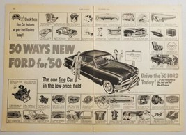 1949 Print Ad The Ford for 1950 Drive it Today Fine Car for in Low Price Field - $17.80