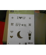 Stampin Up Wooden Stamp Set (new) PICTOGRAM PUNCHES (10 stamps) - $28.17