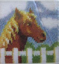 "Wonder Art Caron Latch Hook Pony Horse Kit 12"" x 12"" New Latch Hook Incl. - $17.99"