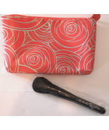 IPSY Mar 2016 Makeup Coral & Mint Green Cosmetic Travel Case & Foundatio... - $8.92