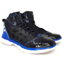 Adidas Adizero Shadow G48032 Mens 13 Basketball Shoes Sneakers Black Blu... - $74.99