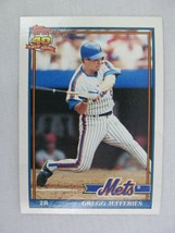 Gregg Jefferies New York Mets 1991 Topps Baseball Card 30 - $0.98
