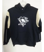 NWOT NHL Pittsburgh Penguins Stitched Logo Hoodie Sweatshirt Youth Large - $34.35