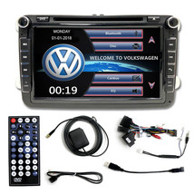 OE FITMENT DOUBLE DIN DVD MP3  AUX  SD GPS NAVIGATION WV VOLKSWAGEN JETT... - $227.69
