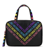 Victoria's Secret Rainbow Jetsetter Travel Makeup Case Clear Pockets Hanger NWT - $39.49