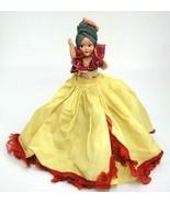 "Vintage Hard Plastic Carmen Miranda Doll Side Glancing Eyes Fruit Turban 8"" - $12.22"