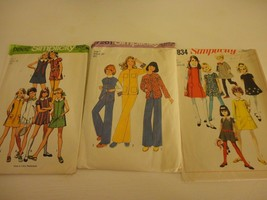 Lot of 3 Vintage 1960s-70s Girls Size 7 cut Simplicity  sewing patterns bust 26 - $19.79