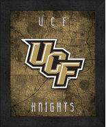 "Central Florida Knights ""Retro College Logo Map"" 13x16 Framed Print  - $39.95"
