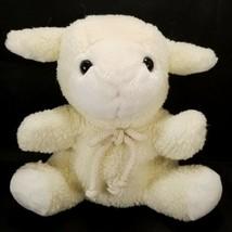 Lamb Sheep Hand Puppet Plush Animal Soft Learning Off White Cream Teache... - $16.82