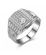 Victoria Wieck Style Men Cubic Zirconia Ring 925 Sterling Silver - $61.99