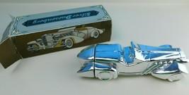 Vintage Avon Silver Duesenberg Oland Glass Decanter With Box Full - $12.86