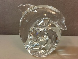 Crystal Dolphin by Steuben Hand Cooler Paperweight Collection - $232.65
