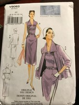 Vogue V9083 Vintage Model Original 1951 Design Jacket Dress Uncut Sizes 6-14 - $27.41