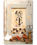 La Sterga dei Corvi witch halloween cross stitch chart Madame Chantilly - $10.80