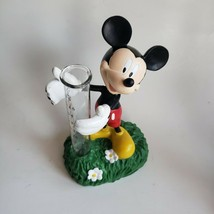 "Disney Mickey Mouse Rain Gauge Garden Statue 7""  Resin Glass NWT - $19.68"