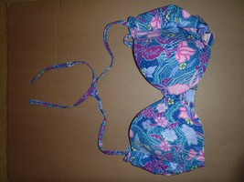 Victoria Secret Bikini Top Floral Unforgettable Sister Size 36D Padded Underwire - $46.60