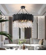 Black Light Modern Living Room Chandeliers Crystal Luxury Hanging Lamps ... - $869.99+