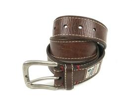 FOSSIL Brown leather DISTRESSED Fashion Belt SZ 38 (36-40) Three Diamond... - $24.70