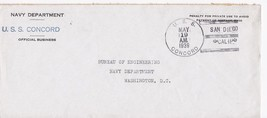 U.S.S. CONCORD NAVY DEPARTMENT MAY 19, 1939 - $4.95
