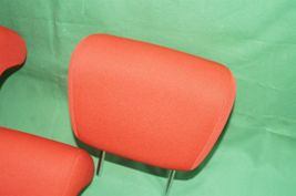 10-13 Kia Soul Rear Back Cloth 3 Headrests Headrest Set RED image 4