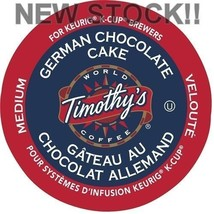 Timothy's German Chocolate Cake Coffee 24 to 144 Keurig K cup Pods Pick Any Size - $39.99
