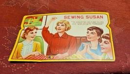 Vintage Sewing Susan Needles 70 Gold Eye Needles Missing Threader & some needles image 1