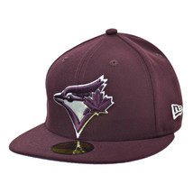 New Era Toronto Blue Jays 59Fifty Men's Fitted Hat Cap Burgundy-White 80338177 - £28.06 GBP