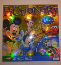 Disney Pictionary Game Family Board Games Mattel COMPLETE - $15.83