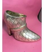Centerpiece Shoe Boot Nieman Marcus High Heel Silver color Hollywood Reg... - $99.78