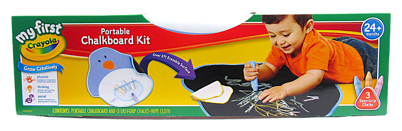 Primary image for My First Crayola Portable Penguin Chalkboard Creative Kit w/ 3 Easy Grip Chalks
