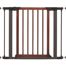 Midwest Homes For Pets Graphite/wood Steel/wood Pet Gate 29h X 29-38w 02... - $75.11