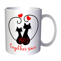 Cats We Love Together Since 1980 11oz Mug f200 - $10.83