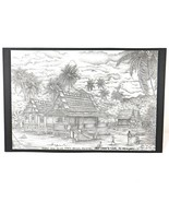 Island Lithograph Print ONCE UPON A TIME, IN MEMORY by Sazoli Signed 10 ... - $9.50