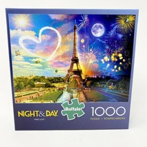 Night & Day Paris Love 1000 Pc Jigsaw Puzzle And Poster New Buffalo Game... - $31.53