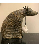 Christine Federighi (1949-2006) Wrapped Standing Dog Stoneware Sculpture - $593.01