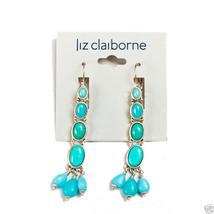 """Liz Claiborne Silvertone Pierced Earrings 2 1/2"""" New Signed - $12.99"""