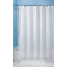 InterDesign Carlton Fabric Shower Curtain, Stall 54 x 78, White - $23.06