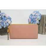 Tory Burch Perry Pink Moon Moose Colorblock Leather Large Zip Around Wal... - $172.76