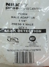 Nibco Press System PC604 Male Adapter 1 1/4 Inch Leak Detection image 2