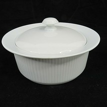 Dansk Bistro White 2 Quart Covered Casserole Dish with Vintage Candle Wa... - $39.59
