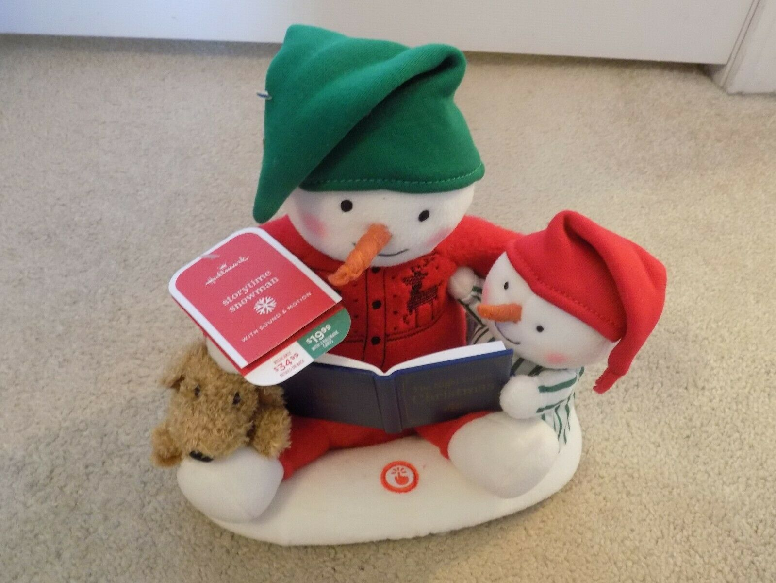 Primary image for 2019 Hallmark Jingle Pals Animated Musical Storytime Snowman w/Tag