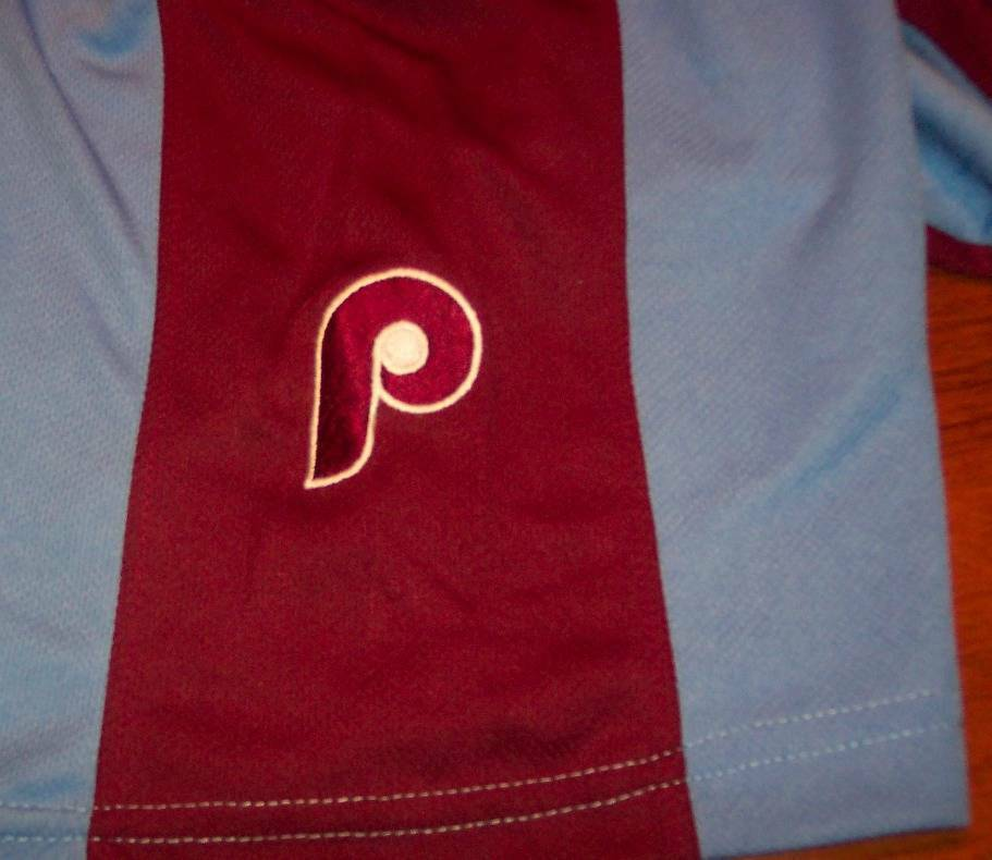 VINTAGE STYLE PHILADELPHIA PHILLIES MLB STITCHED JERSEY LARGE NEW w/ TAG