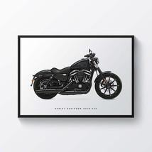 Harley Davidson Iron 883 Motorcycle Print Sports Bike Motorbike - Poster Wall Ar - $19.95+